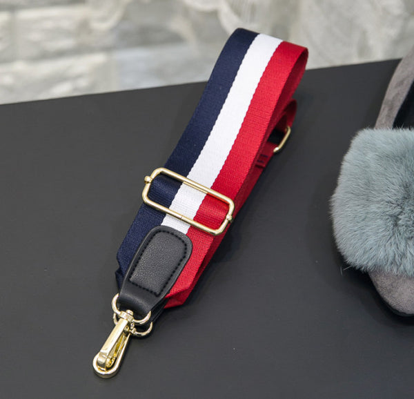 Wide Red, White & Blue Shoulder Strap