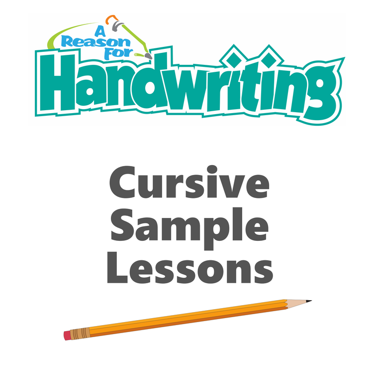 FREE A Reason For Handwriting Sample Lessons - Cursive