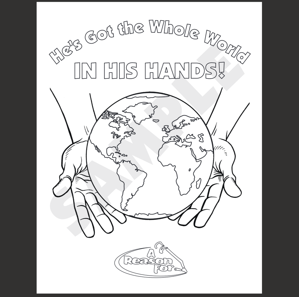 "FREE ""Whole Word in His Hands"" Coloring Sheet"