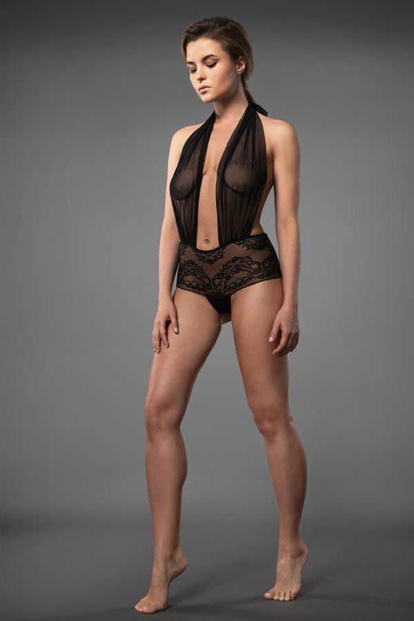 SENSUAL LACE BODYSUIT BLACK