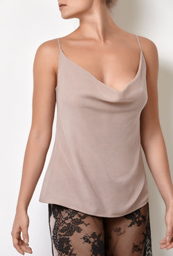 Pink ladies pajama camisole top, it is loungewear sleeveless tops tank top made of pure silk