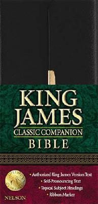 KJV #1024S Classic Companion Bible Bonded Black with Snap Cover