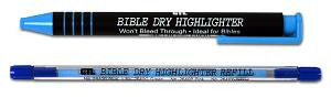 Bible Highlighting Refill Item #2640B Bible Dry Refill Blue