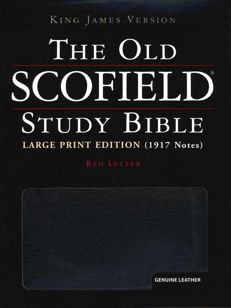KJV Scofield Study Bible #394RRL Large Print Black Genuine Indexed