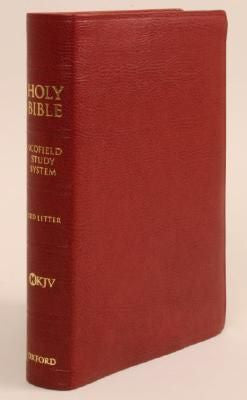 NKJV #474RRL Scofield III Study Bible Indexed Genuine Burgundy