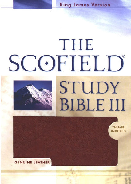 KJV The Scofield III Study Bible #524RRL Burgundy Leather Indexed