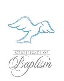 Folded Baptism Certificates with Envelopes