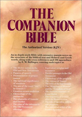 KJV The Companion Bible Black Genuine