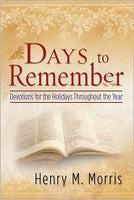 Days to Remember  Devotions for the Holidays Throughout the Year