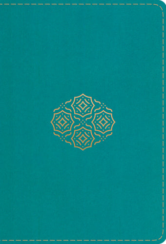 ESV Large Print Compact Bible TruTone Teal Bouquet