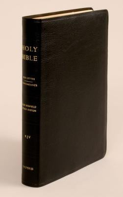 KJV Old Scofield Study Bible Standard Edition #261RRL Black Bonded Indexed