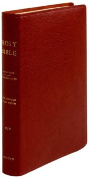 KJV Old Scofield Study Bible Standard Edition #261RRL Burgundy Bonded Indexed
