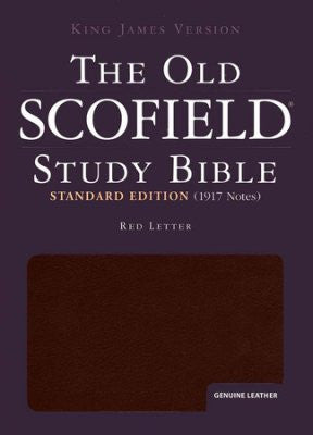 KJV Old Scofield Study Bible Standard Edition #274RRL Burgundy Genuine Indexed