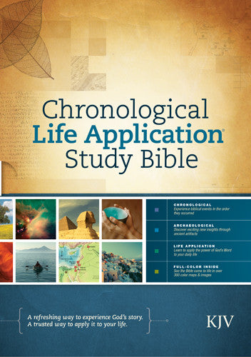 Chronological KJV Life Application Study Bible Hardcover