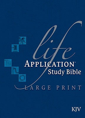 KJV Life Application Study Bible LARGE PRINT Bonded Burgundy Indexed