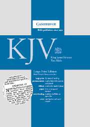KJV Cambridge #KJ653 LARGE PRINT Text Bible French Morocco Black