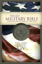 KJV The Military Bible Large Print Compact Edition Green LeatherTouch
