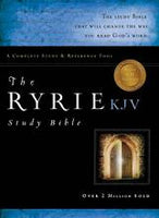KJV Ryrie Study Bible Genuine Black Indexed