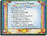 The Lord's Prayer - Laminated