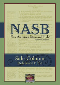 NASB #863W Side-Column Reference Bible Black Genuine Wide Margin