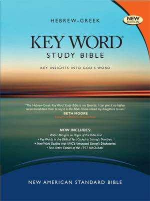 NASB Zodhiates Hebrew-Greek Keyword Study Bible Hardcover