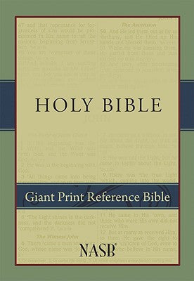 NASB Giant Print Reference Bible Hardcover