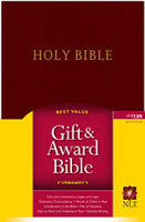NLT Gift and Award Bible Burgundy Imitation Leather