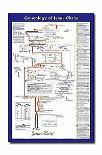Genealogy of Jesus Christ Wall Chart - Laminated
