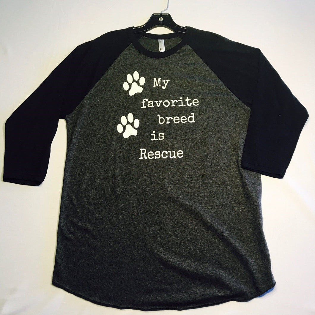 My Favorite Breed is Rescue, Rescue, Vegan, Vegans Rock Apparel, Tee, T-Shirt, Tank, Tank Top, Unisex Tank,