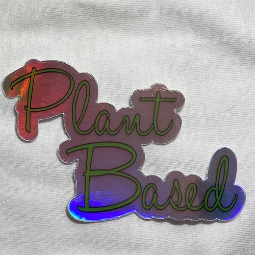 Plant Based Hologram Sticker