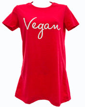 Vegan Signature Womans Tee Red