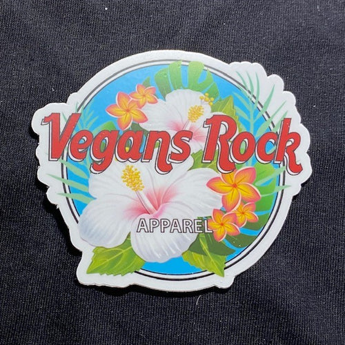 Vegans Rock Hawaii Theme Sticker