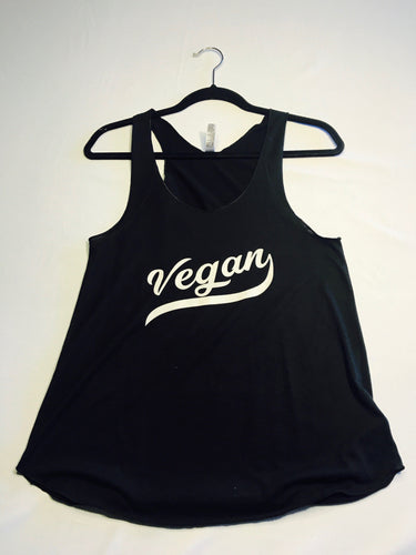 Vegan Retro Tri-Blend Razorback Tank Top Black