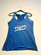 Vegan Retro Tri-Blend Razorback Tank Top Blue
