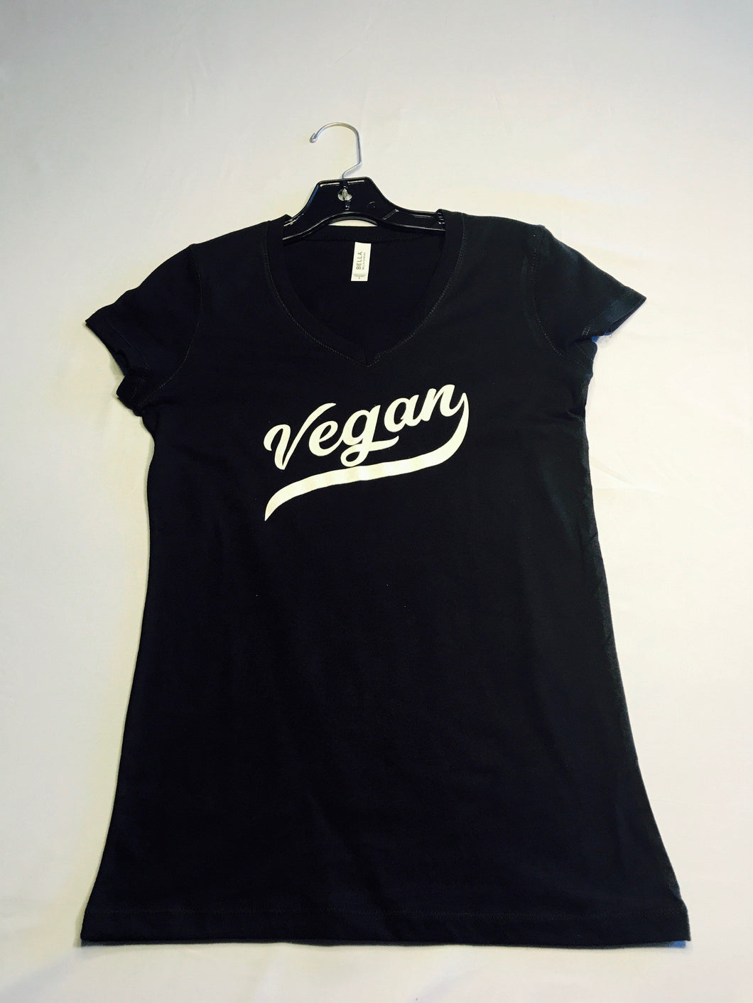Vegan Retro Womans V-Neck Tee