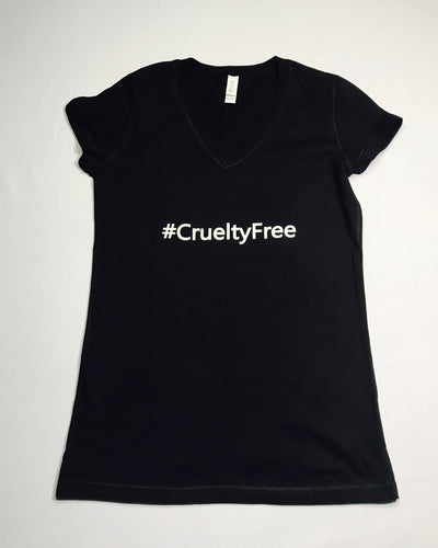#CrueltyFree Womans V-Neck Tee