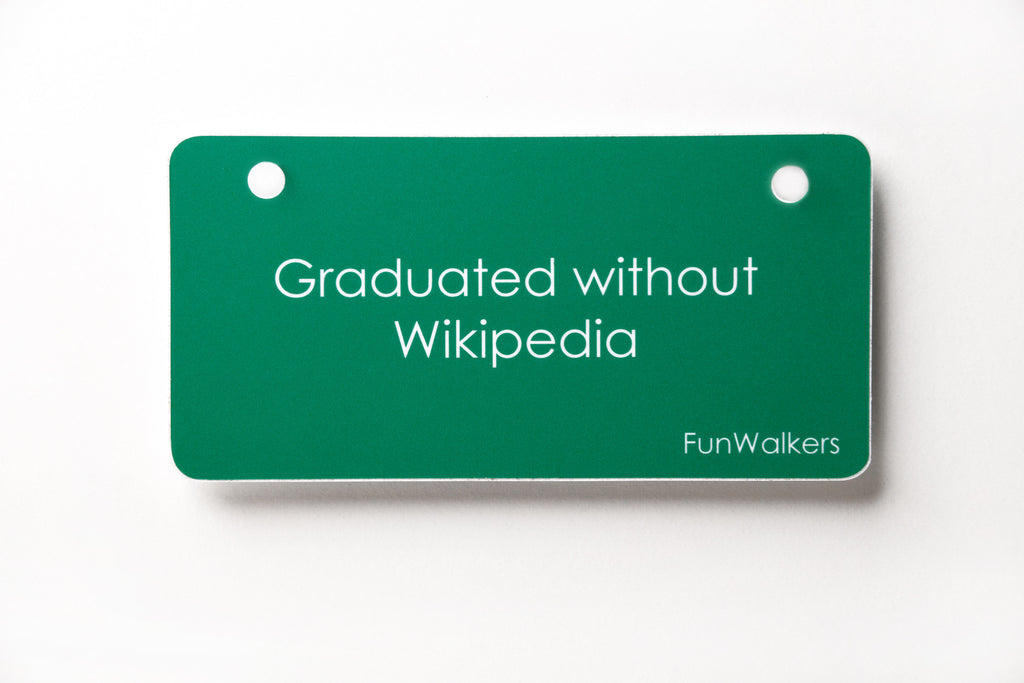 """Graduated without Wikipedia"" Whimsical Holiday Gift"