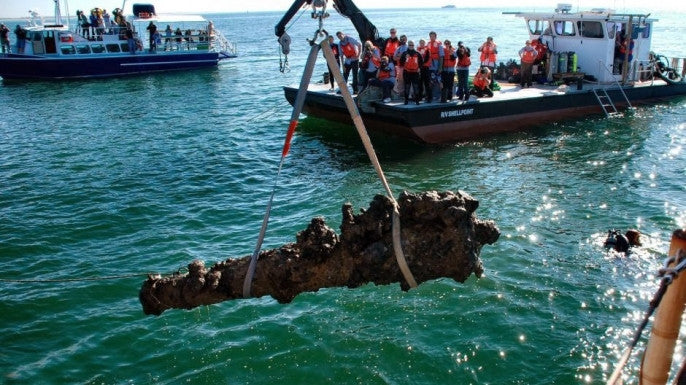Cannon Loosed from Wreckage of Blackbeard's Pirate Ship