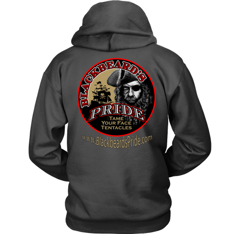 Blackbeard's Pride Logo Hoodie - with logo on back- no front design