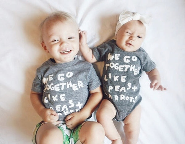 We Go Together Like Peas and Carrots Onesie