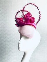 Swirl - Pink Headpiece with Undulating Tonal Layers