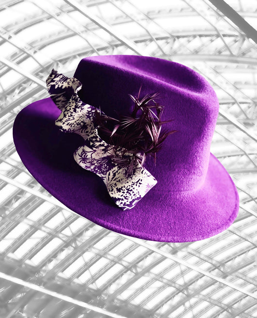 St Pancras - Couture Trilby in Ultraviolet