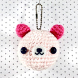 Too-cute Teddy Face Bag Charm or Key Chain