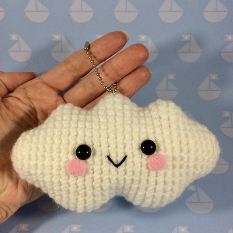 CROCHET PATTERN for Smiley Kawaii Cloud Plushy