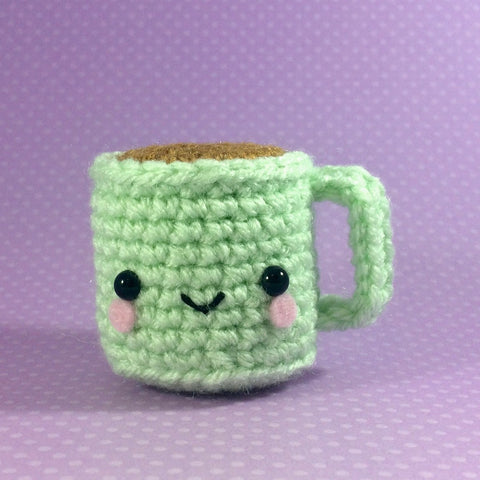 Tiny Amigurumi Coffee Cup Plushy