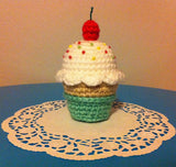 CROCHET PATTERN for Yummy Cupcake Soft Sculpture