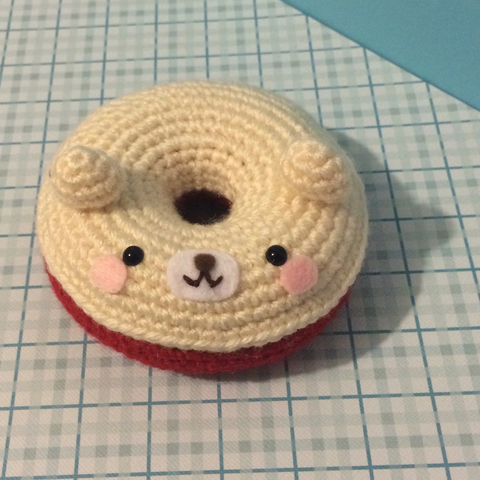 Super Cute Amigurumi Kawaii Donut Bear Plushy by Sugar Pop Crochet