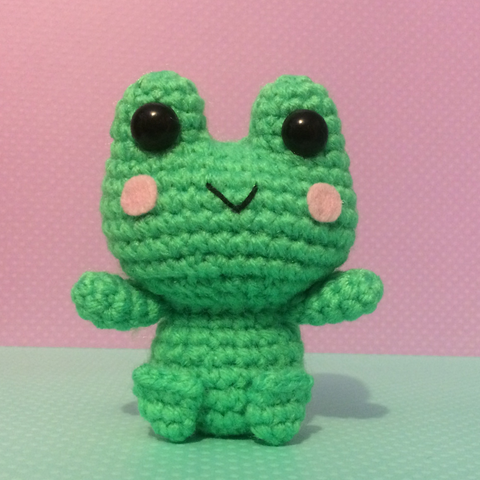 CROCHET PATTERN for Froggy Amigurumi Soft Sculpture