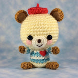 Jean-Pierre! Challening Crochet Pattern for French Teddy Bear! Gentlebear Amigurumi!