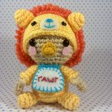 CROCHET PATTERN for Baby in his Lion Jammies